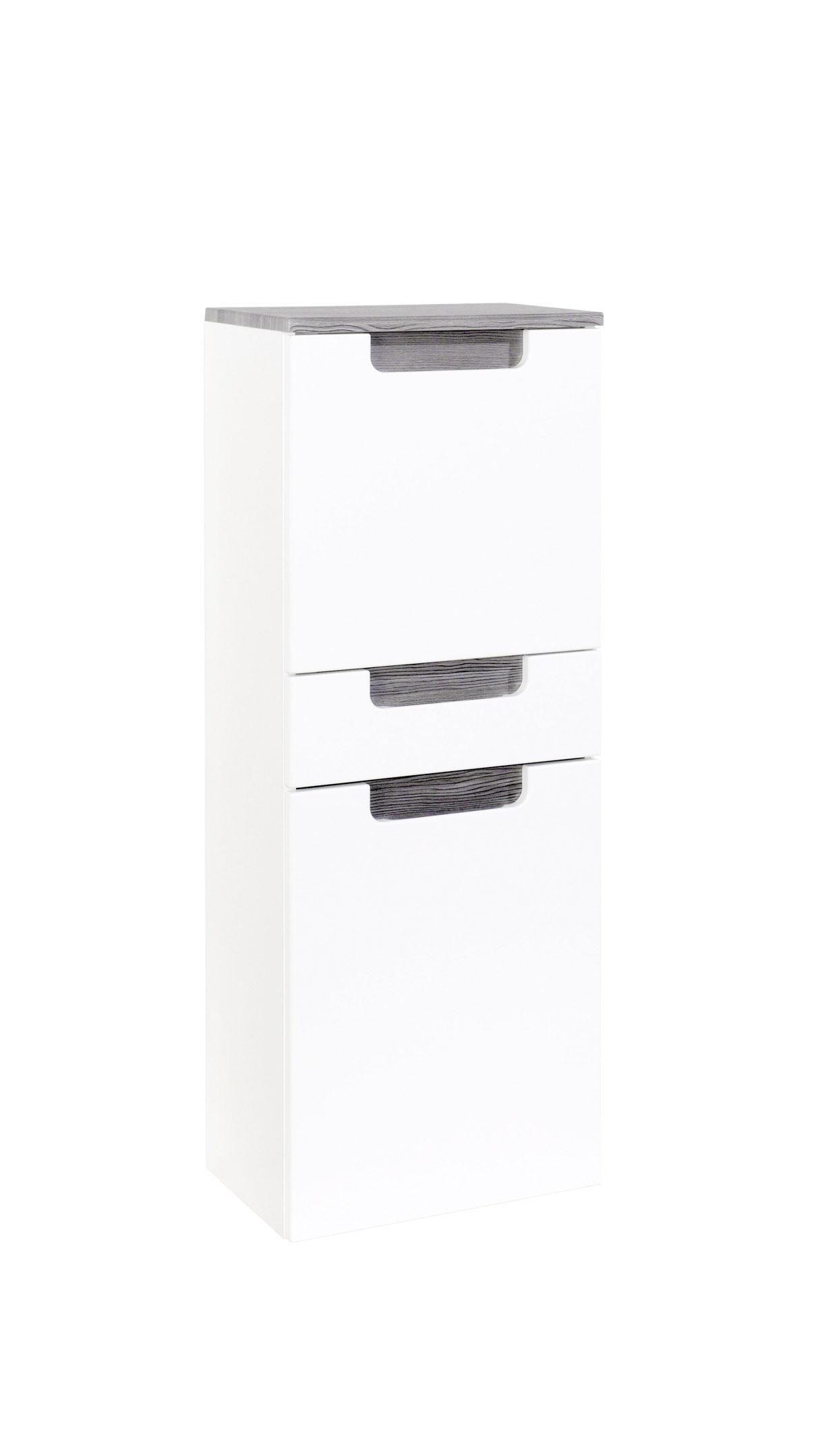 Waschbeckenunterschrank SIENA Waschtisch Unterschrank 1 Auszug 60cm weiss grau