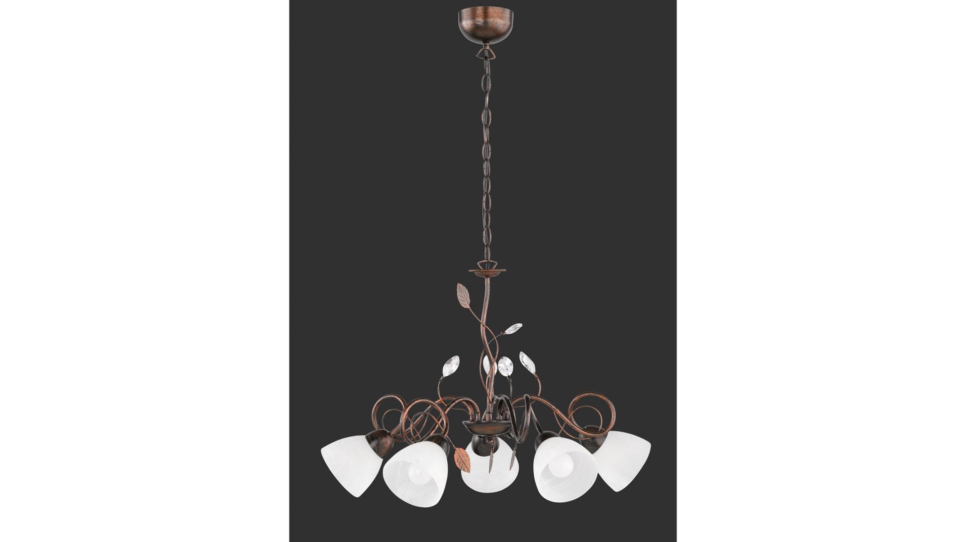 Kronleuchter Diele ~ Kronleuchter antik rostfarbenes metall u fünf lampenschirme