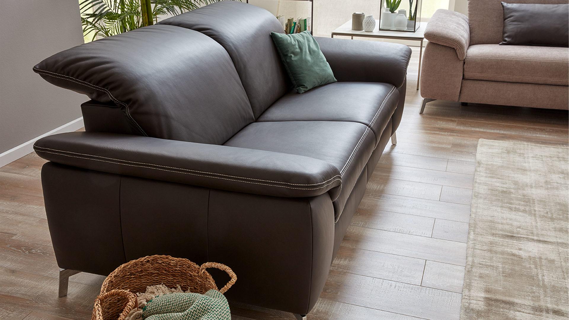 Interliving Sofa Serie 4101 Zweisitzer 8792 Espressofarbenes