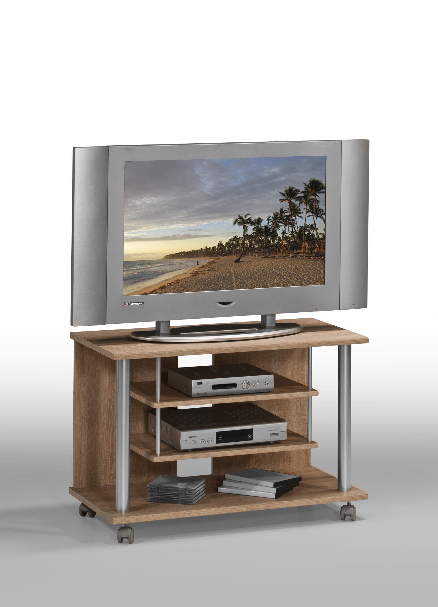 TV-Medienwagen als Fernsehschrank , Sonoma eichefarbene ...