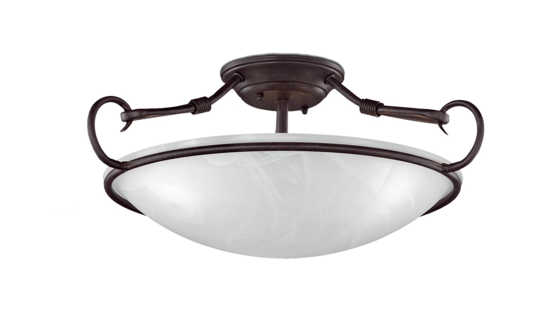 Deckenleuchte Como Deckenlampe Antik Rostfarbenes Metall