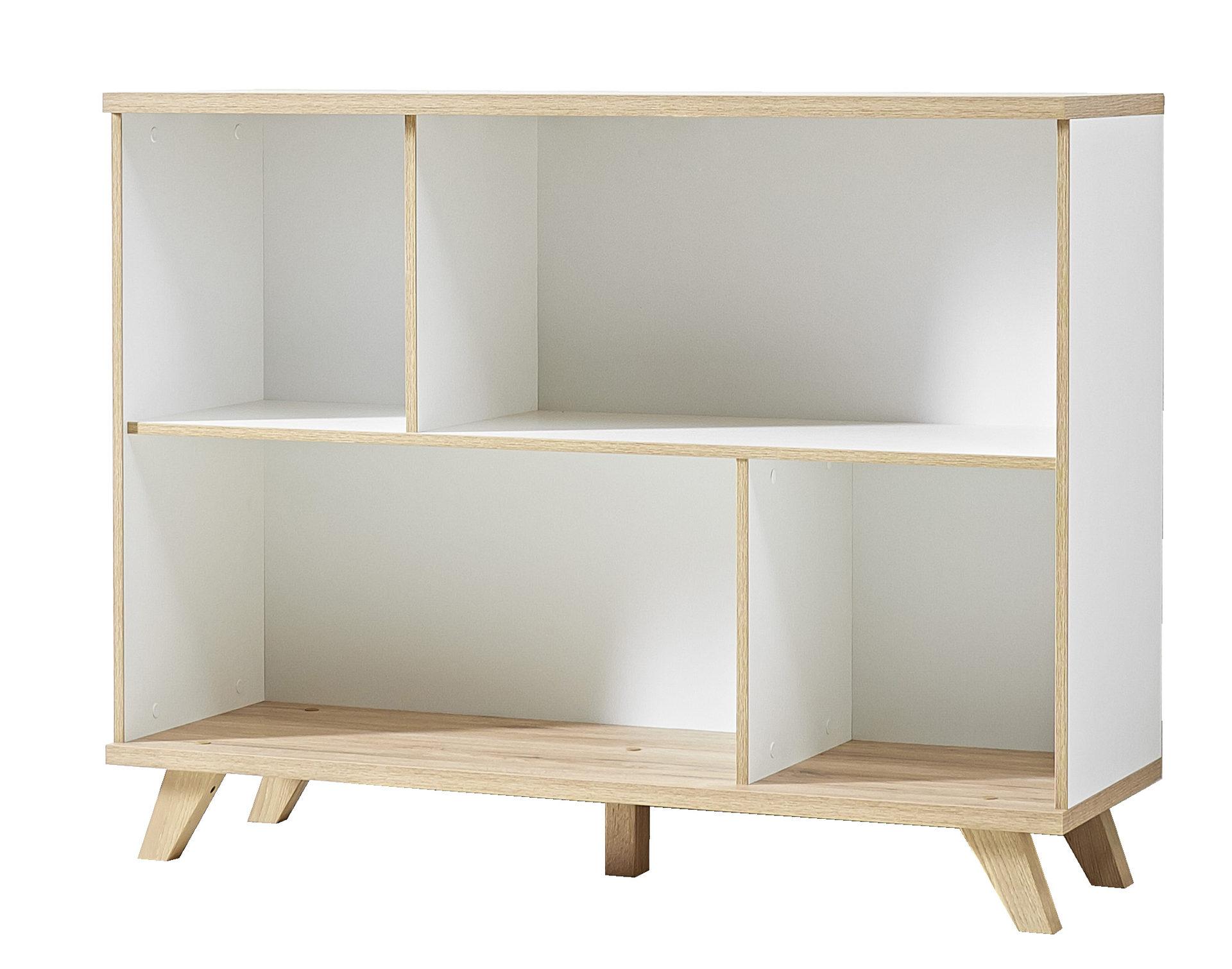Regal Oslo, als Bücherregal oder Büromöbel einsetzbar, mattweiße ...