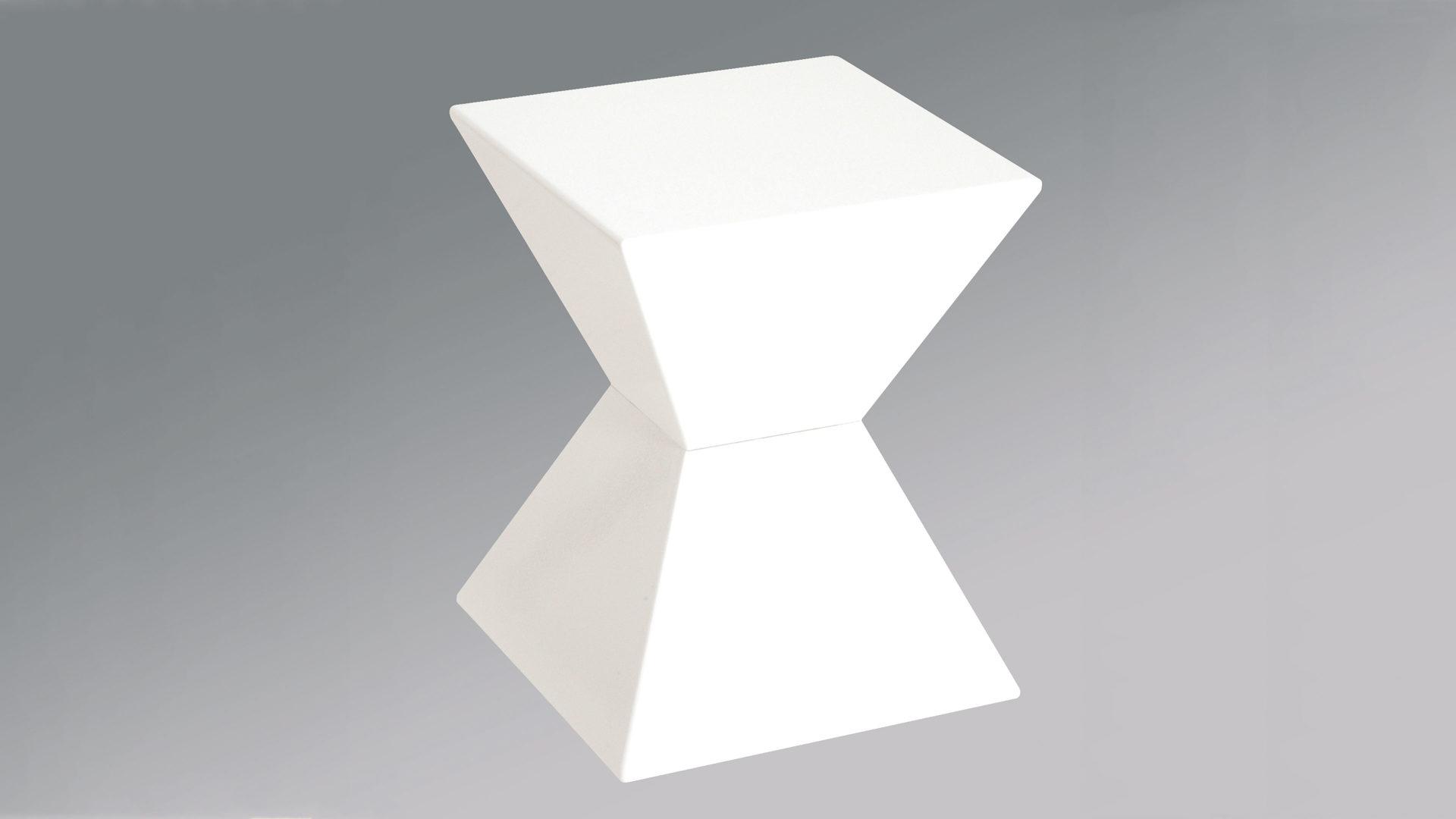 Beistelltisch & Hocker als Büromöbel oder Loungemöbel , weißer ...