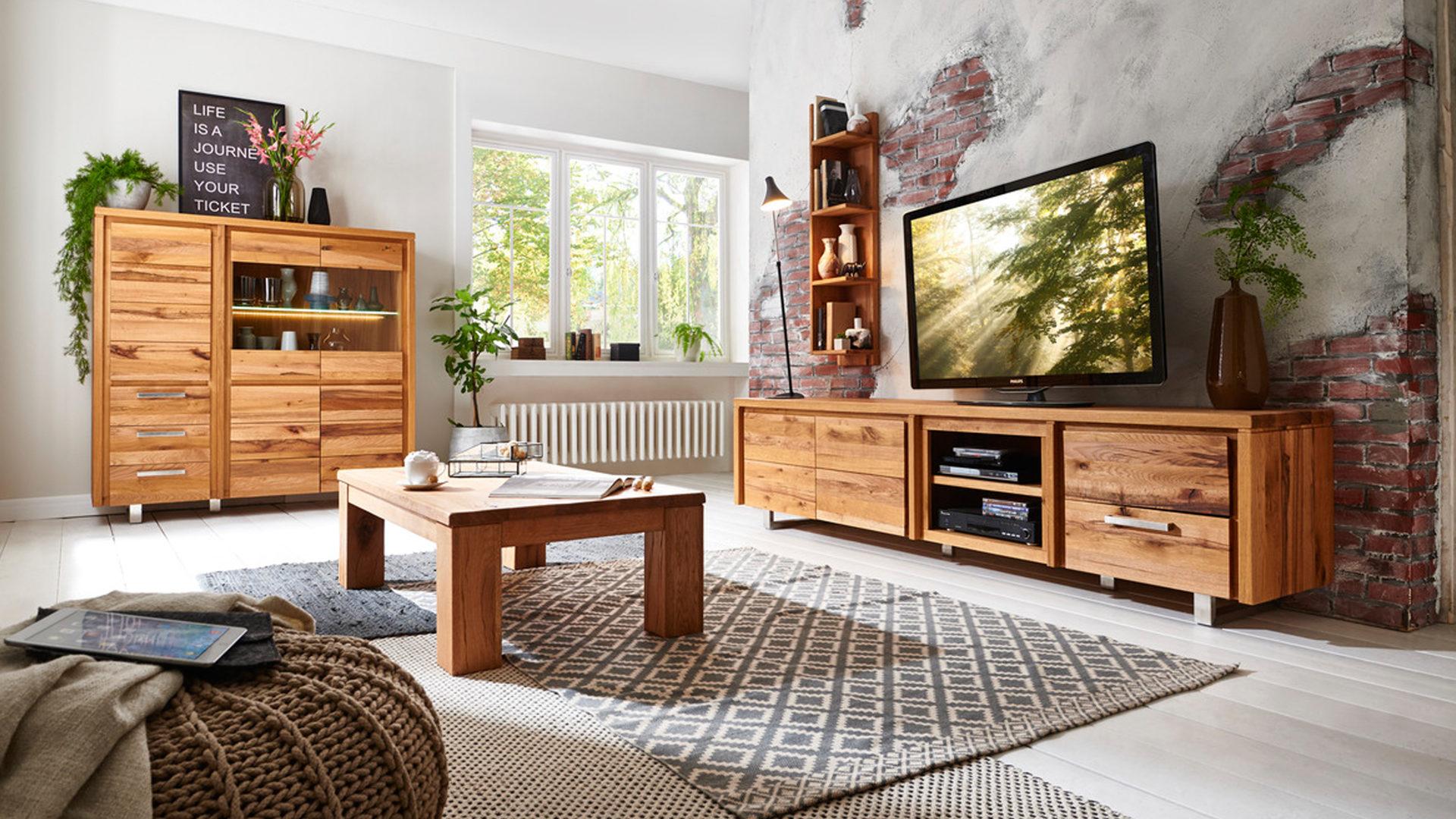 Habufa Medien Lowboard Masters Als Tv Möbel Vintage Naturfarbene