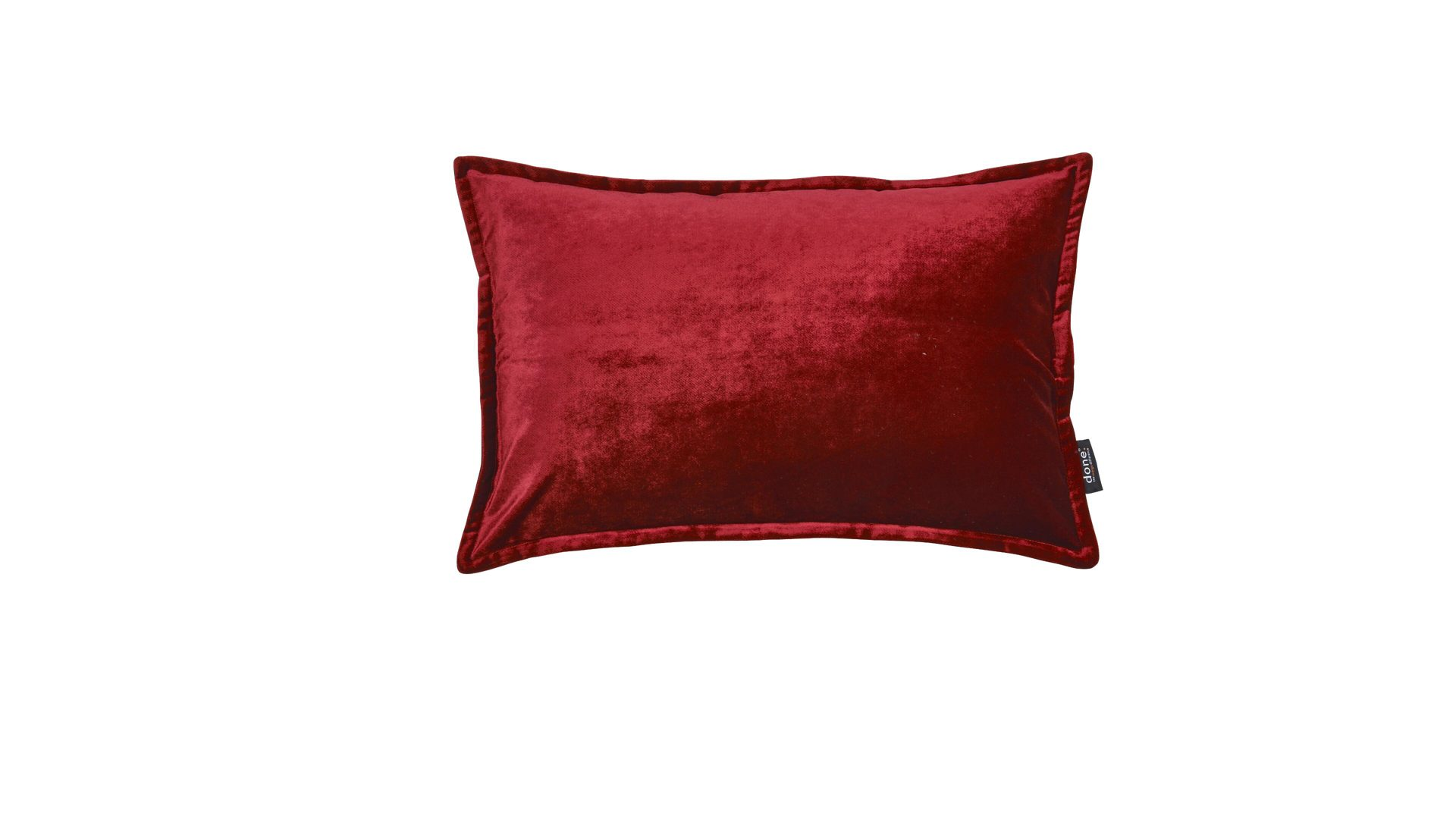 Kissenbezug Done by karabel home company aus Stoff in Rot Done Kissenhülle Cushion Glam roter Samt – ca. 40 x 60 cm