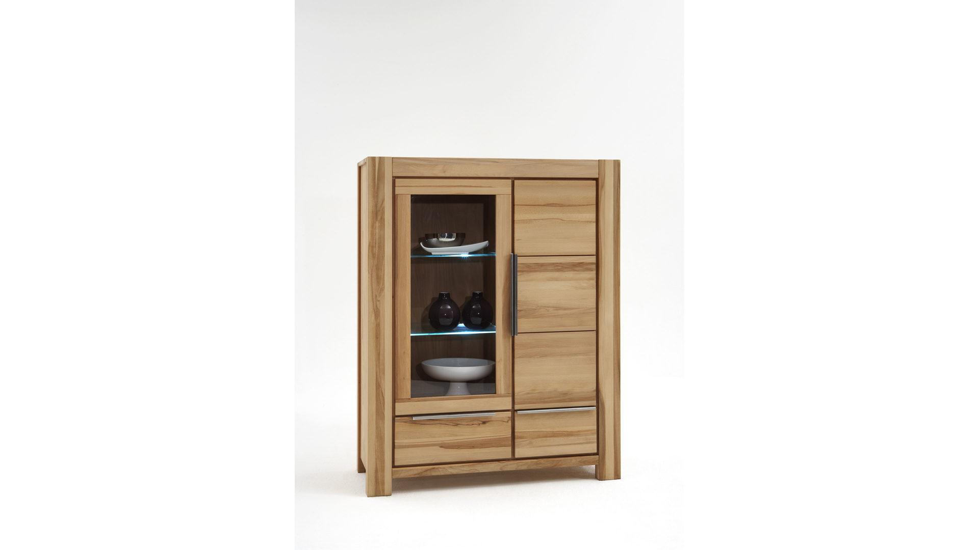 Vitrine Elfo Möbel Aus Holz In Holzfarben Hell Massivholz Vitrine, Eine  Kommode Mit