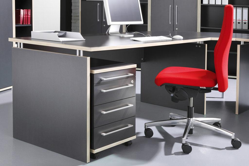 Rollcontainer Dante bzw. Büromöbel, anthrazit- & rosalesfarbene ...